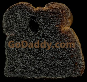 go daddy burned toast