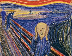 The Scream - a pastel by Edvard Munch